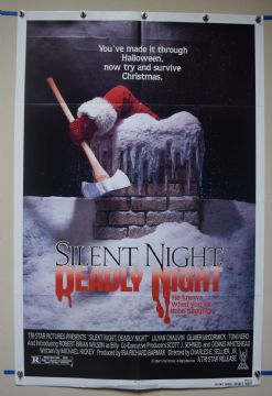 Silent Night Deadly Night (1981) Horror Poster Rare Xmas Style  - US One Sheet